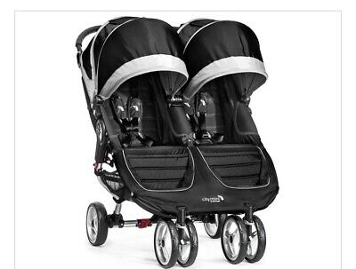 Baby Jogger City Mini Purple/Gray Standard Double Seat Stroller • 102£