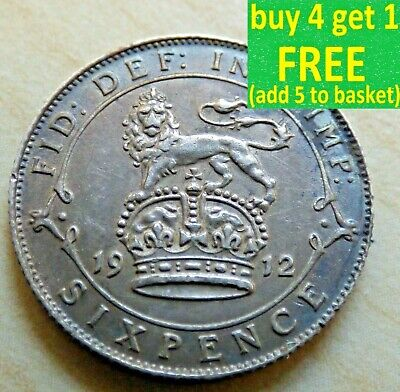George V Sixpence 6D Silver Coins Choose Your Date 1910-1936 Year Choice  • 2.99£
