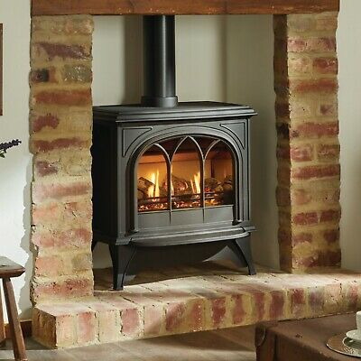 Gazco Huntingdon 40  Black Conventional Flue Gas Stove, Manual Control, Logs • 1,495£
