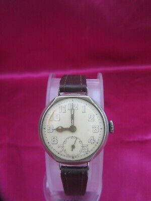 Drodena Vintage 1920's Wind Up Watch Original Leather Strap-used Fully Working   • 49.99£