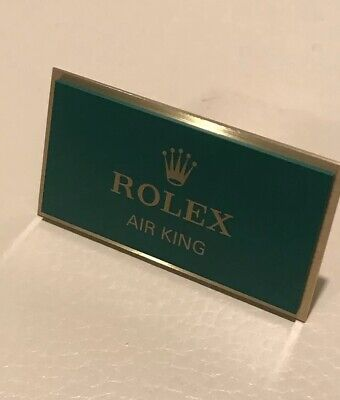 Very Rare Genuine Rolex Airking Display Plaque • 89.99£