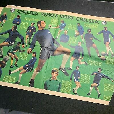 Evening Standard Newspaper Page - Who's Who CHELSEA Football Team AUG 1970 • 0.99£