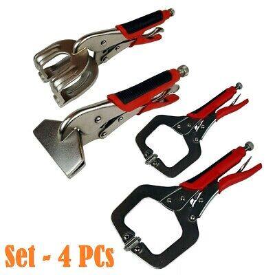 4Pc INDIVIDUAL WELDING C CLAMP MOLE VICE GRIP SHEET METAL LOCKING PLIERS WRENCH • 4.99£