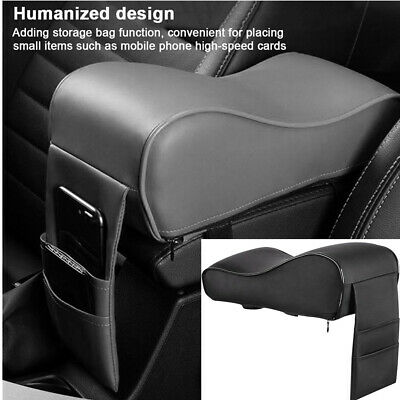$17 • Buy PU Leather Car Armrest Pad Cover Auto Center Console Box Mat Cushion Universal