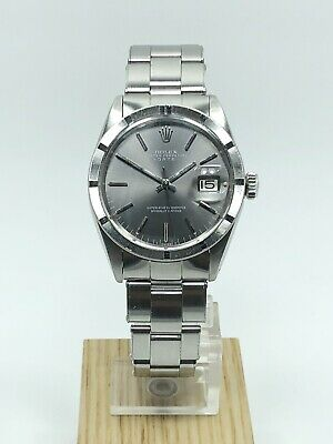 $ CDN4593.70 • Buy Rolex Vintage Date 34mm Stainless Steel Engine Turned Bezel Watch Ref:1501