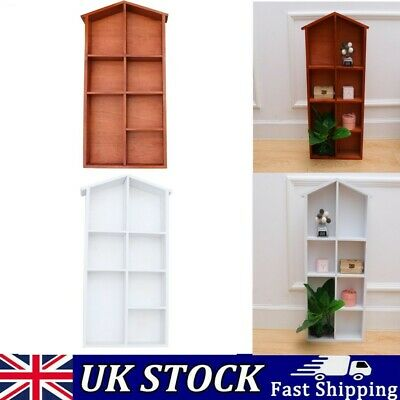 Kids Childrens Wooden Doll House Bookcase Shelf Storage Rack Organiser Bookshelf • 16.59£
