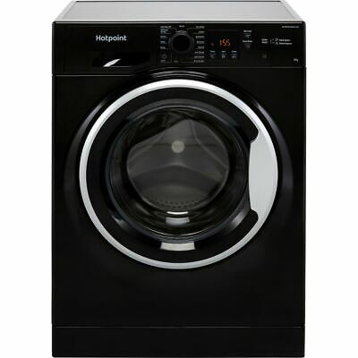 £339 • Buy Hotpoint NSWM843CBSUKN 8Kg 1400 RPM Washing Machine Black D Rated New