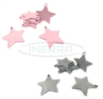 £3.99 • Buy Star Balloon Weights For Helium Balloons - Multipack - Baby Pink & Silver