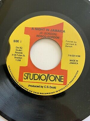 Rosco Gordon - A Night In Jamaica - Studio One - Reggae/rocksteady • 6£