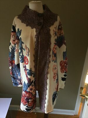 $ CDN130.90 • Buy Anthropologie Embroidered Foret Cardigan Tunic By Sleeping On Snow Sz XS EUC