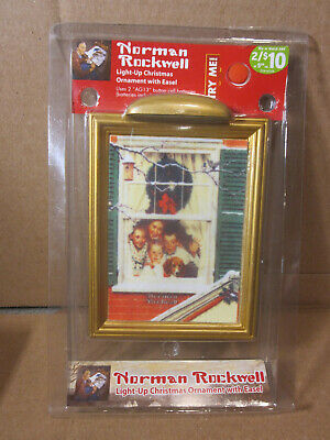 $ CDN16.98 • Buy Norman Rockwell Light Up Christmas Ornament With Easel Kids In Window Holiday