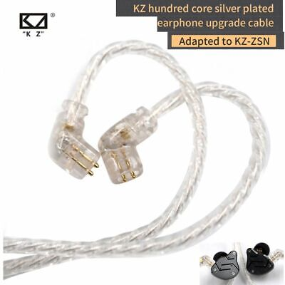 AU19.01 • Buy KZ Headphones ZSX/ZSN Pro/ZS10 Pro/AS16 Silver Plated Upgrade Cable 2PIN Pin