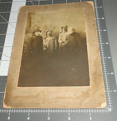 $ CDN200.42 • Buy 1890's Creepy HALLOWEEN Costume MASK Scary FACE Antique Vintage Cabinet PHOTO