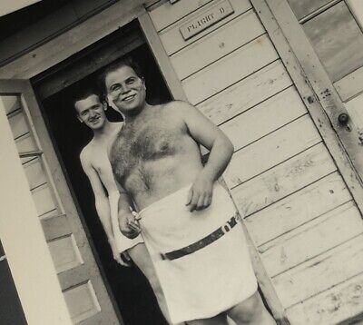 $ CDN15.67 • Buy Beefy Naked Man In Towel Shower Hairy Chest Shaving Vintage Gay Snapshot PHOTO