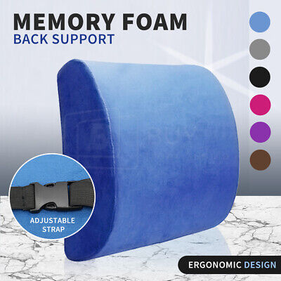 AU20.90 • Buy Memory Foam Lumbar Back Pillow Support Back Cushion Home Office Car Seat Chair