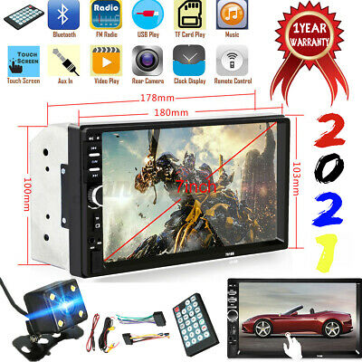 AU52.99 • Buy 7  Double 2Din Touch Screen Car MP5 MP3 Player Stereo Bluetooth FM Radio Camera
