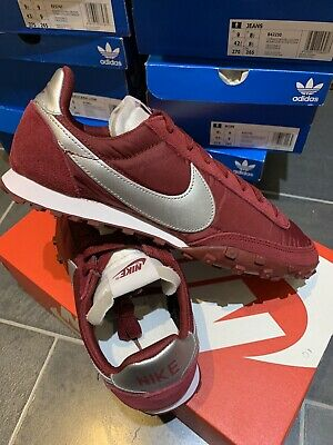 Nike Air Waffle Racer UK 8 Eur 42.5 Team Red Silver (maroon) Retro Runners New • 54.99£