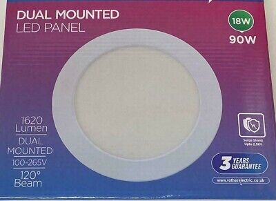 GU10 Mains Hole LED Converter Kit Recessed Ceiling Panel Downlight Large Plate • 14.95£