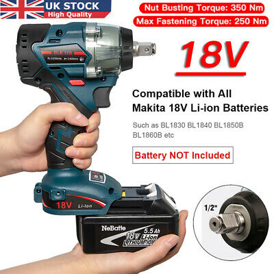 Genuine Makita DTW285Z 18 Volt Li-Ion LXT Cordless 1/2  Impact Wrench Body Only • 63.96£