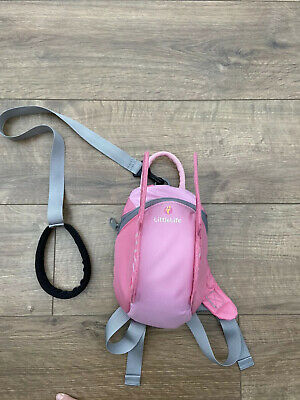 LittleLife Toddler Butterfly Backpack With Rein - Pink/Nearly New /Toddler Reins • 3.50£