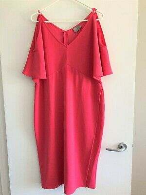 AU20 • Buy ASOS Coral Pink Dress UK 18 /US 14 /AUS 16 $20 Plus Postage