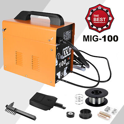 New Professional MIG 100 No Gas / Gasless Mighty Mig Auto Wire Feed Welder 30A • 79.99£
