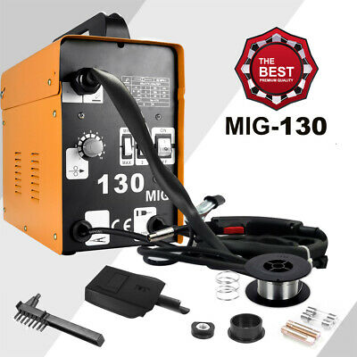 Professional MIG 130 Welder Stick Metal Steel Welder 230v 30A Electric Kit New • 89.99£