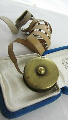 Vintage Brass Novelty Fishing Reel Tape Measure Sewing Collectable • 28£