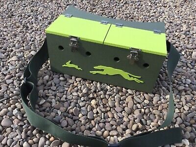 Double Painted Bow Back Lightweight Ferret Box Ferreting Rabbiting Hunting • 38£