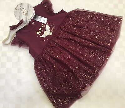 AU14.95 • Buy *Harry Potter Baby Girl Sz0 Burgundy Dress Tulle Set NWT Rrp $22.*