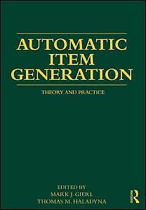 AU130.83 • Buy NEW BOOK Automatic Item Generation By Mark J Gierl (2012)