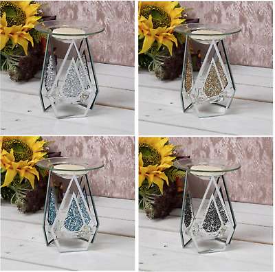Diamond Shape Glass Yankee Candle Wax Tart Compatible Oil Burner Tealight Holder • 11.90£
