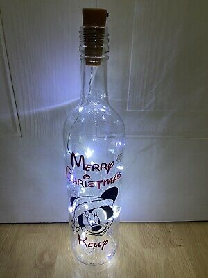 Disney Minnie Mouse Merry Christmas Light Up Bottle Personalised Gift • 12.95£