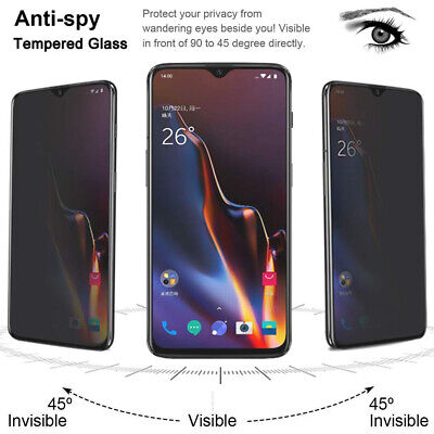 AU5.01 • Buy For OnePlus 7 Pro 7 6 6T 5T 3D Privacy Anti-Spy Tempered Glass Screen Protector