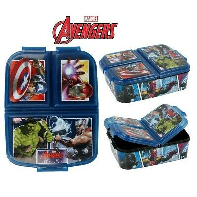 £12.49 • Buy Marvel Avengers Kids Character 3 Compartment Sandwich Lunch Box Licenced Item