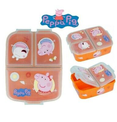 Peppa Pig  Kids Character 3 Compartment Sandwich Lunch Box Licenced Item • 12.48£