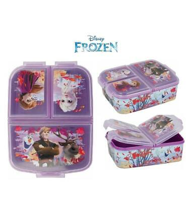 Frozen II Design  Kids Character 3 Compartment Sandwich Lunch Box Licenced Item • 12.98£