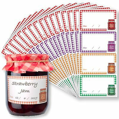 Innoveem Jam Jar Labels - Self Adhesive Easy Peel Off Jam Labels That Leave N... • 17.99£