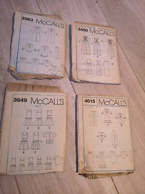 4X McCalls Dressmaking Nightwear Patterns Ladies Size 8-10 10-12 Nighties Pj's  • 5£