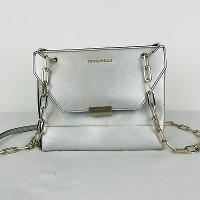 Coccinelle Mini Crossbody Bag | Silver • 34.95£