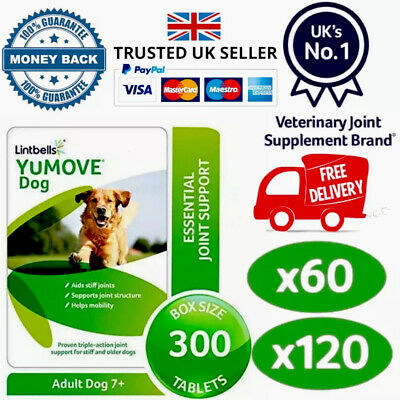 Lintbells YuMOVE Dog Mobility Health Supplement Aid For Stiff Old Dogs Various • 20.45£