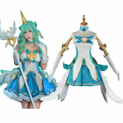 $ CDN151.92 • Buy LOL Star Guardians Soraka Cosplay Costume Set League Of Legends Outfit Full Set
