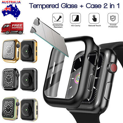 AU13.98 • Buy Case Cover For Apple Watch Series 6 5 4 SE 44 &40 Mm With Glass Screen Protector
