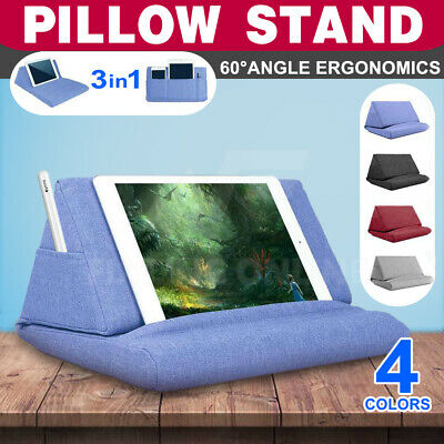 AU17.96 • Buy 3in1 Tablet Pillow Stands For IPad Book Reader Keyboard Holder Reading Cushion