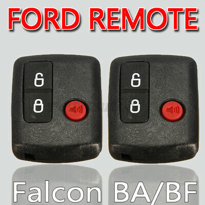 AU18.99 • Buy 2x For Ford 3 Button Car Entry Remote Key BA/BF Falcon Territory SX SY Ute  +-