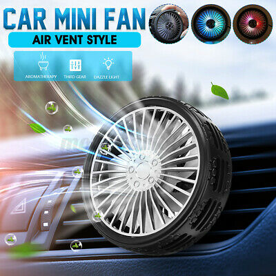 AU16.89 • Buy USB Car Fan Cooling Cooler 3 Speed Air Vent Clip On W/ LED Light Aromatherapy