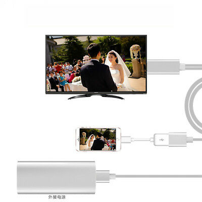 AU24.39 • Buy Small USB MHL To HDMI 1080P TV Adapter Cable HD For Samsung Galaxy S6 Phone