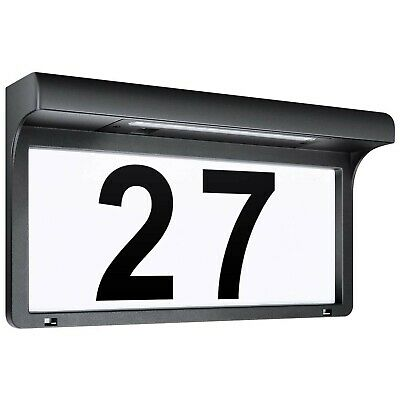 LeiDrail Solar House Number Plaques Illuminated Door Numbers Signs Modern Cus... • 58.99£