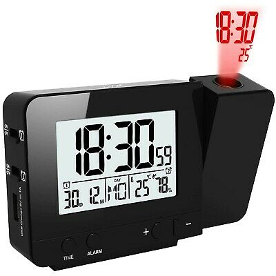 OurLeeme Projection Clocks, Electronic Alarm Clocks Wall Projection Time Dimm... • 30.99£