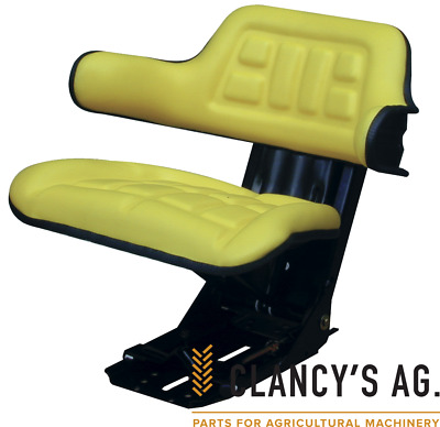 AU125 • Buy Yellow Universal Tractor Suspension Seat. Suits John Deere Massey & More!